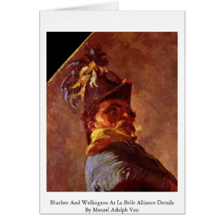 Blucher And Wellington At La Belle Alliance Detail Greeting Card