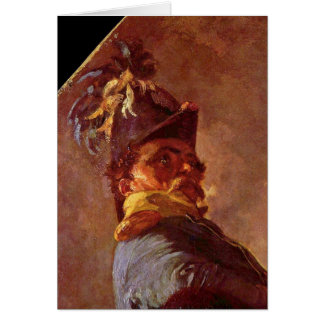 Blucher And Wellington Detail By Menzel Adolph Greeting Card