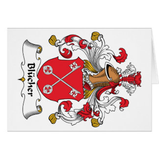 Blucher Family Crest Greeting Card
