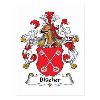Blucher Family Crest Postcard