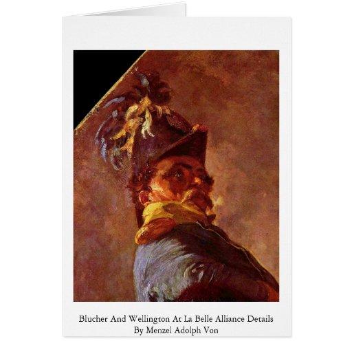 Blucher y Wellington en el detalle de Alliance de Tarjeta De Felicitación
