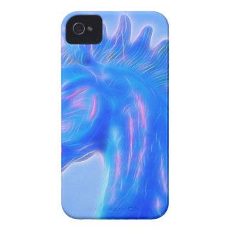 Blucifer el caballo azul iPhone 4 Case-Mate protectores
