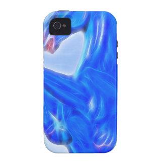 Blucifer el mustango azul que se alza Horse.jpg Vibe iPhone 4 Carcasas