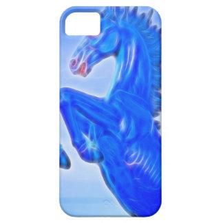Blucifer el mustango azul que se alza Horse.jpg iPhone 5 Fundas