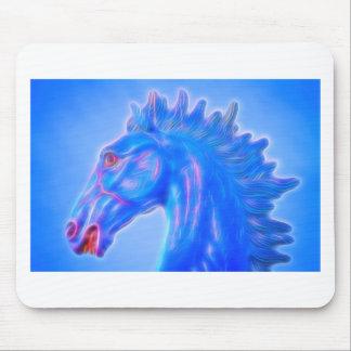 Blucifer The Blue Horse Mouse Pad