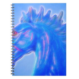 Blucifer The Blue Horse Spiral Notebook