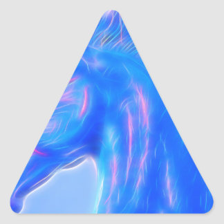 Blucifer The Blue Horse Triangle Sticker