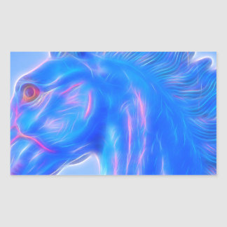 Blucifer The Blue Horse Rectangular Sticker