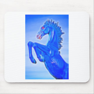Blucifer The Rearing Blue Mustang Horse.jpg Mouse Pad