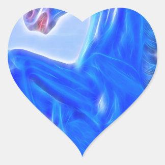 Blucifer The Rearing Blue Mustang Horse.jpg Heart Sticker