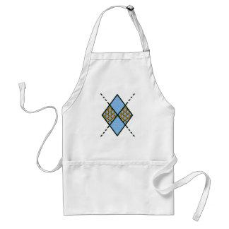 Blue-001 Argyle Pattern Adult Apron