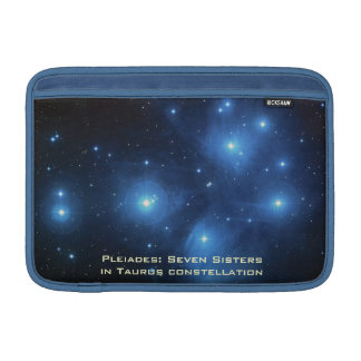 Blue 11 Inch Macbook Air Sleeve With Pleiades