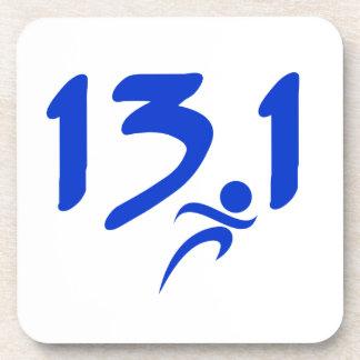 Blue 13.1 half-marathon coaster
