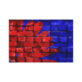 blue-143734 VIBRANT RED ROYAL BLUE blue red painte Canvas Print