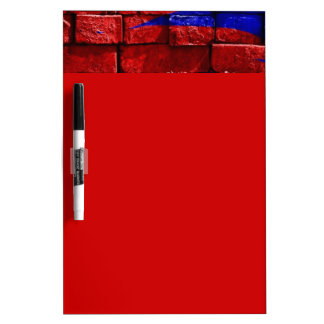 blue-143734 VIBRANT RED ROYAL BLUE blue red painte Dry Erase Board