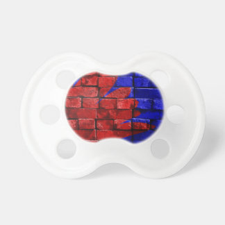 blue-143734 VIBRANT RED ROYAL BLUE blue red painte Baby Pacifiers