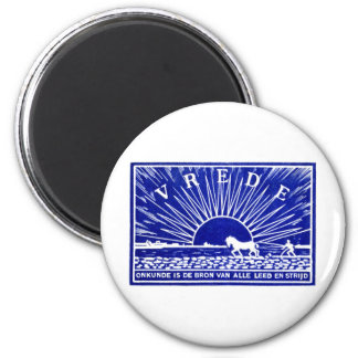 Blue 1910 Peace Poster 2 Inch Round Magnet