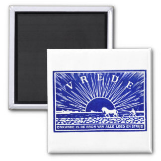 Blue 1910 Peace Poster 2 Inch Square Magnet