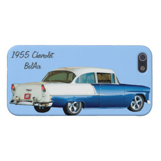 Blue 1955 Chevy Vintage Chevrolet iPhone 5 5s Case