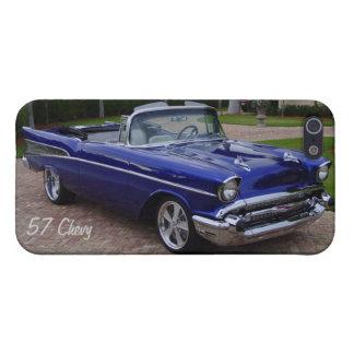 Blue 1957 Chevrolet Convertible iPhone 5/5s Case