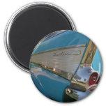 blue 1957 Chevy 2 Inch Round Magnet
