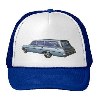 Blue 1962 Chevrolet station wagon Mesh Hats