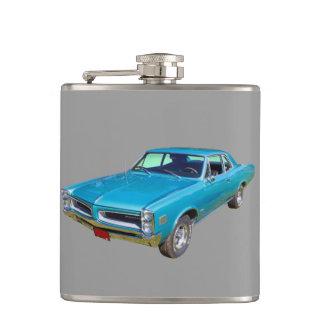 Blue 1966 Pontiac Le Mans Muscle Car Hip Flask