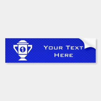 Blue 1st Place Trophy Bumper Sticker