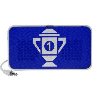 Blue 1st Place Trophy Portable Speakers