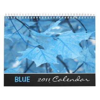 Blue 2011 calendar