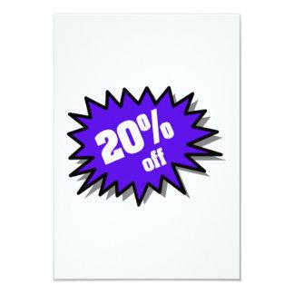 Blue 20 Percent Off Custom Invitation