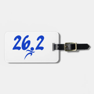 Blue 26.2 marathon bag tag