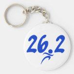 Blue 26.2 marathon key chains