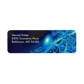 Blue 2 Abstract Art Label