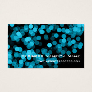 Blue 2 Party Lights (Music or DJ) Business Cards
