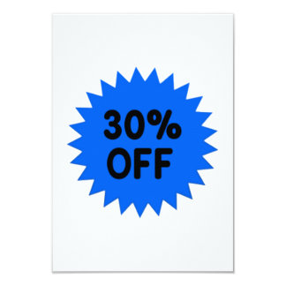 Blue 30 Percent Off Personalized Announcement