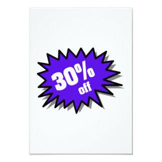 Blue 30 Percent Off Custom Invitation
