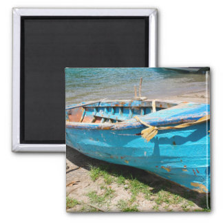Blue 3 2 inch square magnet