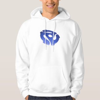 Blue 3D 45 RPM Adapter Hooded Pullovers