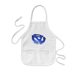 Blue 3D 45 RPM Adapter Kids' Apron