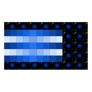 Blue 3D Illusion Unusual Business Card 5