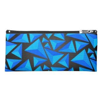 Blue 3D Pyramid Pencil Case