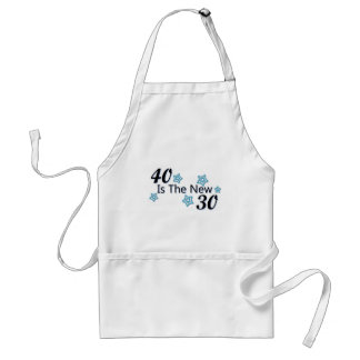 Blue 40 is the New 30 Adult Apron