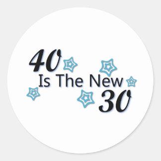 Blue 40 is the New 30 Round Sticker