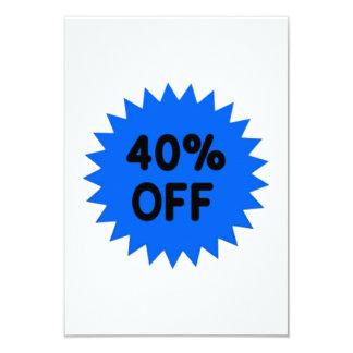 Blue 40 Percent Off Custom Announcement