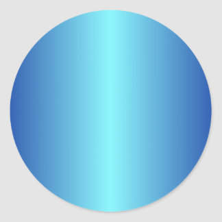 Blue 4 - Electric Blue and Imperial Blue Gradient Classic Round Sticker