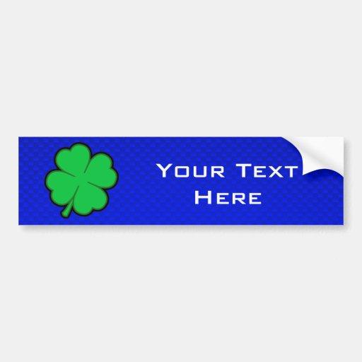 Blue 4 Leaf Clover Bumper Stickers