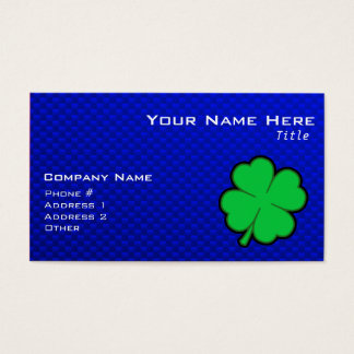 Blue 4 Leaf Clover Business Card