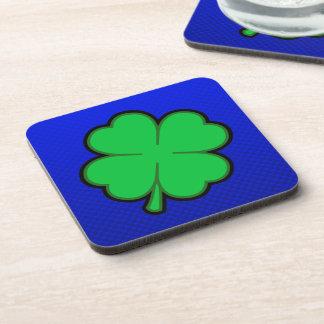 Blue 4 Leaf Clover Coaster