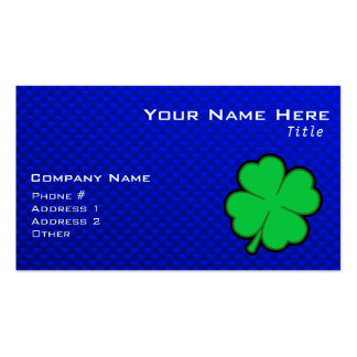 Blue 4 Leaf Clover Double-Sided Standard Business Cards (Pack Of 100)